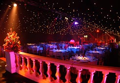 star lights used in wedding marquee